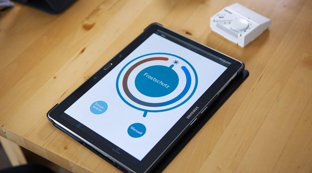 App auf Tablet