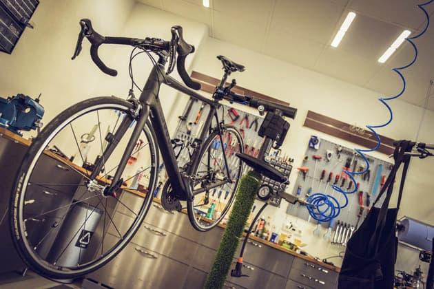 Fahrrad in Werkstatt