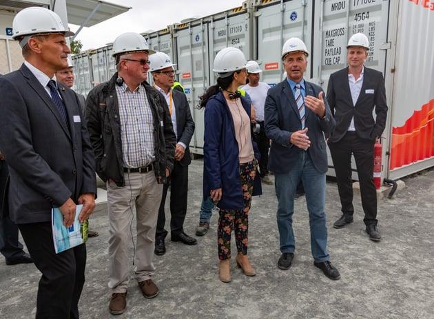 Einweihung Batteriegroßspeicher in Langenreichenbach