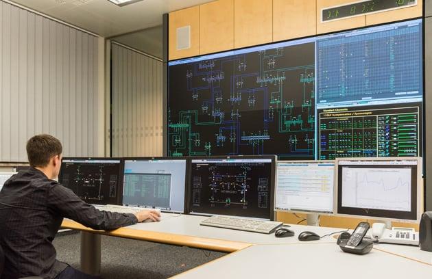 Cyberkriminalität bedroht Stromnetze, Netzleitstelle