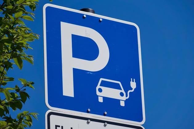 Parkschild für Elektrofahrzeuge