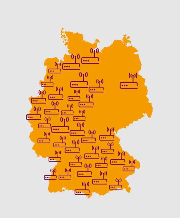 Breitbandausbau Deutschland Übersichtskarte