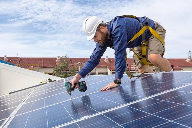 Hausbau, Förderung, Solaranlage
