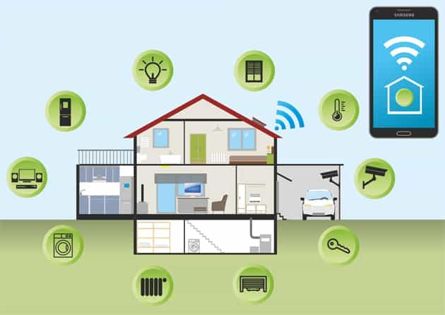 Haus mit Smart Home Komponenten