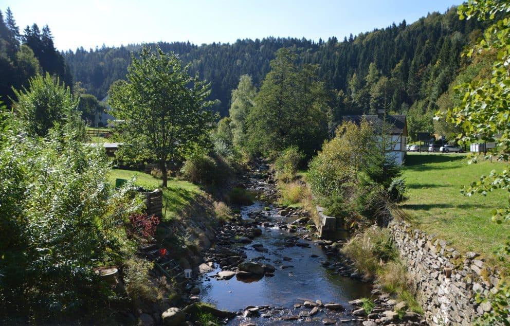 Wandern im Erzgebirge entlang der Pockau