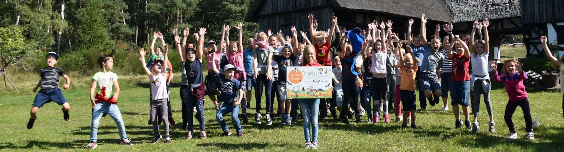 30.000. Kind beim Umweltbildungsprojekt Natur zum Anfassen